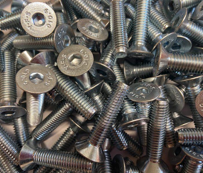 countersunk socket screws
